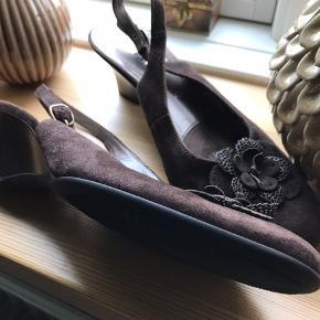 Fin brun ruskinds sko fra Gabor - helt nye og ubrugte