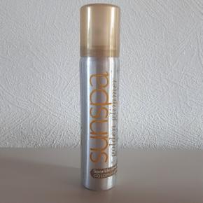 Sun Spa golden glimmer sparkle in a can 75 ml. Brugt 1 gang.  Hentes i Roskilde eller sender med DAO mod betaling af fragt.