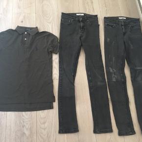 To par jeans str 27/32 og polo fra ralph Laureen str xs . Sælges samlet