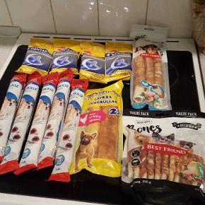 sælges samlet pakke med lækre snacks til hund