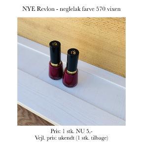 NYE Revlon - neglelak farve 570 vixen  Pris: 1 stk. NU 5,-  Vejl. pris: ukendt (1 stk. tilbage)   Se også over 200 andre nye produkter, som jeg har til salg herinde :-)