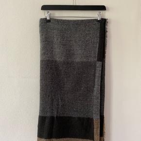 Lækkert Zara halstørklæde, mega blødt.   I grå, brun og sort.
