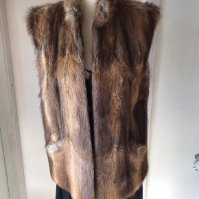 Vintage pels vest. Tror det er mink. I