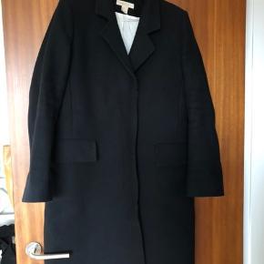Vinter frakke sort lang jakke