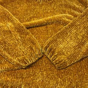 Sennepsgul/gul/rust Chenille strik Str. M