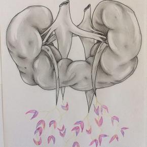 Lucky one 🍀 Tegning lavet af mig, tegnet med kulblyant, akvarel, marker.  A4  Se mere på Instagram: grogitzart