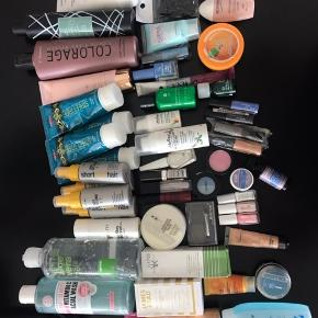 Blandet beauty produkter og hår produkter sælges billigt 250 kr. For det hele, alle tingene er næsten nye. Der er 51 ting ialt
