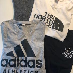 Ingen skader, hvid NF og sort er brugt en del, men stadig rigtig pæne i farve. Grå Adidas og grå minimum er stort aldrig brugt.