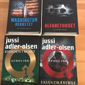 Jussi adler Olsen bøger  50kr pr stk eller alle 4 for 200kr køber betaler Porto