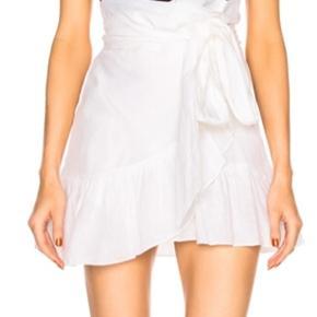 Isabel Marant hvid linned slåom nederdel