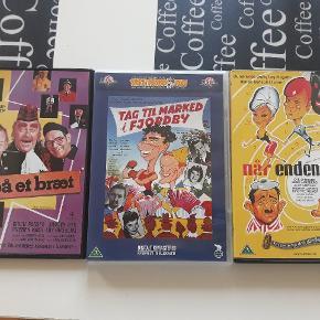3 danske film, fejler intet,  sælges samlet for 25kr