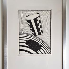 Ole Krog Møller serigrafi 763  /  1/30 E.T b: 55 cm.  ( med rammen. ) h: 60 cm.  ( med rammen. ) ( uden ramme b: 29 cm h: 41 cm ) Er blevet professionel indrammet i aluminiumsramme.  Pris : 300 kr.