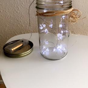 Sylte glas med lyskæde