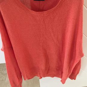 Varetype: Kvinder bluse Farve: Orange Prisen angivet er inklusiv forsendelse.  Strik i brændt orange fra Tiger Of Sweden.  Ikke brugt mange gange. I fin stand  Længde bag 62 cm og for 54 cm.