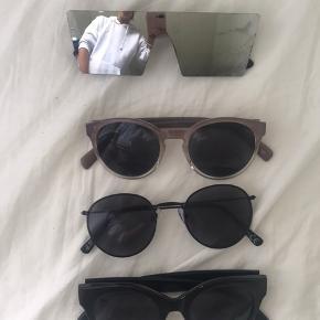 Sælger disse solbriller. 40kr pr par. De øverste er købt i Wasteland Nr 2 og 3 er fra h&m Nr 4 er fra monki