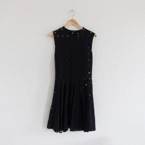 Stine Goya - Music Dress in black 🎵  Worn a few times - selling because it is too large for me.   The dress has a beautiful see-through effect all over.   Note: it is not visible, but two of the transparent tassels have broken (see last image)  #30dayssellout