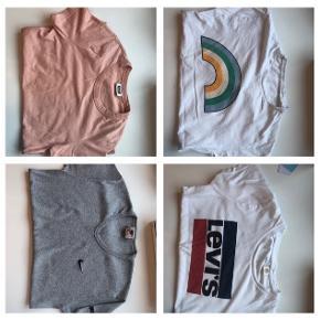 4 t-shirts  Mærkerne: weekday, envii, Nike og levis De fejler ingenting🌸  Sælges for 30kr stk og alle 4 sælges for 95kr