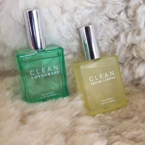 Clean lovegrass 60 ml Clean fresh linens 60 ml  Næsten som ny, prøvet få gange.   Den ene for 400 eller begge for 700,-
