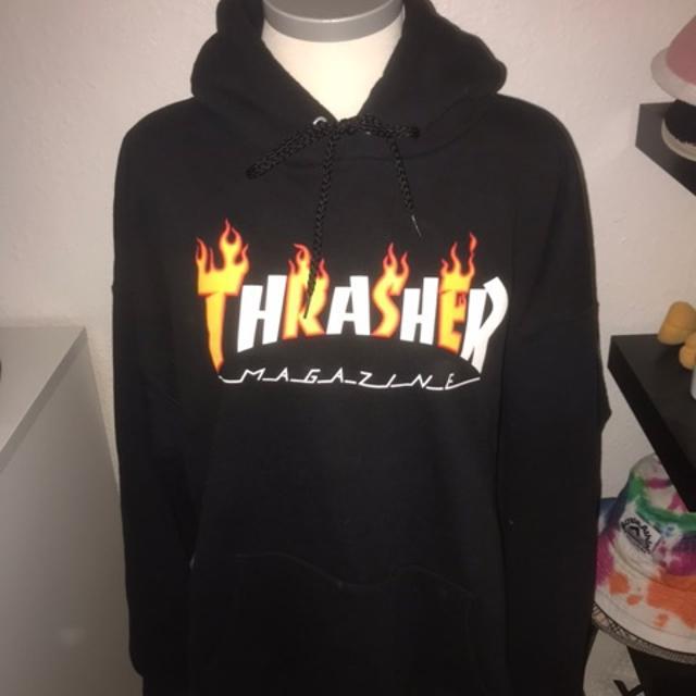 Køb Thrasher hættetrøje online | Thrasher Hood Flame