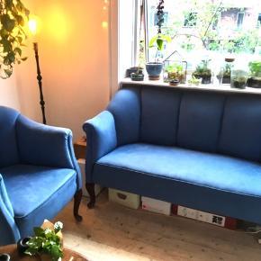 Dejlig og flot sofa + lænestol ! Sælges da jeg skal flytte.