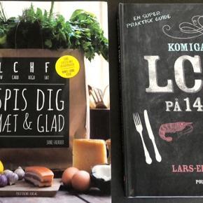 4 LCHF bøger som sprit nye uden hverken pletter, æselører eller brugspor!! Samlet nypris 850kr. Sælges enten samlet 350kr eller enkeltvis 100kr plus porto ell afhentning Næstved.