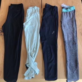 Trænings tights. 200 kr stk.  Nabbia, Nike, Casal og Icaniwill.   Er enten en small eller en medium.