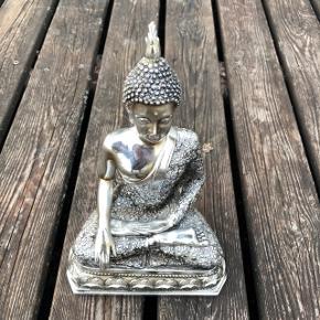 Flot Buddha figur 25 cm i sølv