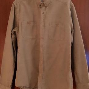 Selected Homme lækker sandfarvet skjorte str M