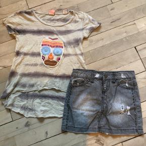 Scotch R'belle t-shirt str 6-116 GMB  Rå nederdel fra pieces str 5/6 Nsn  Sælges samlet til 100 kr