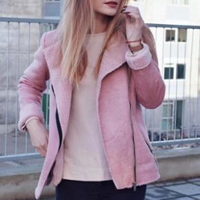 Pink winter jacket from Tally Weijl. Size Small. Style - Biker. Worn only few times.