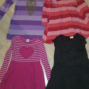 2 stk danefæ kjoler  1 stk polarn o.pyret kjole 1 stk friends  Str. 6-8 år Pris er for alle kjoler