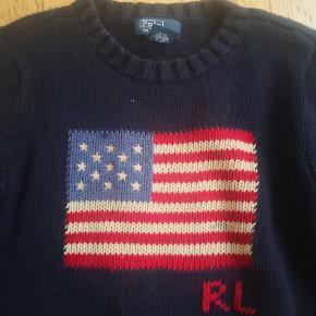 Sweater med USA flag fra Polo Ralph Lauren str 8 år. Fejler intet, vasket max 3 gange. 100% bomuld.