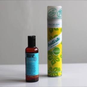 Hårolie og tørshampo. 50,- pr. Stk.  Olien er ubrugt.  Tørshampoen kun prøvet et par gange. Den er til lyst hår!