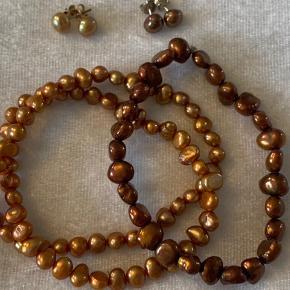 Natur perler og sølv. Samlet pris
