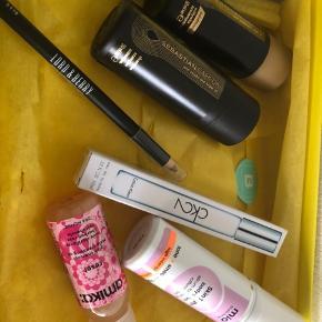 "Shampoo Balsam Miomio Body serum Amika scalp Oil  Calvin Klein 10ml rollerball parfume Lord & berry lip liner ""nude"" Prisen er for det hele inkl. boks"