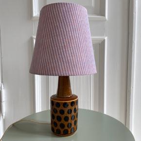 Søholm lampe med skærm fra Helle Thygesen Lampen kan ikke lyse, kræver nyt stik.  33 cm høj Bytter ikke