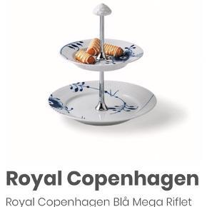 Royal Copenhagen Etagé 2-lags   Aldrig brugt.   Prisen er fast og varen sendes ikke.   (Kan dog købes sammen med Royal Copenhagen skåle til 1100kr for begge)