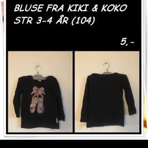 Bluse fra Kiki & koko str 3-4 år
