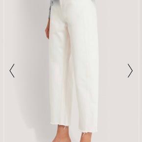 Fejlkøb da de er lidt for store til mig Super fede wide leg hvide bukser fra Na-kd Baggy mom jeans Byd gerne😊