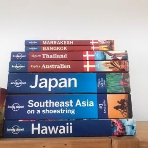 Rejsebøger i forskellig stand! Kom med et bud, sælges både samlet og pr. Stk.  Japan, Marrakesh, Thailand, Hawaii, Sydøstasien, Australien, Bangkok