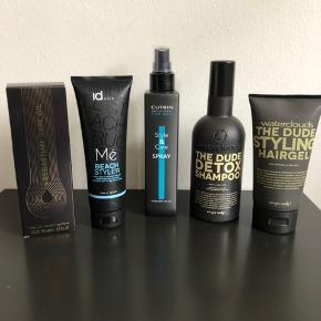 Div. Hår produkter, shampoo, styler, gel, olie 200kr for det hele