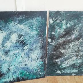 Prisen er for begge, ved køb af et maleri er prisen 400,- :) Begge malerier måler 65*90