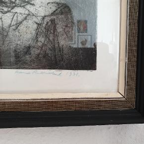 Signeret radering af Henri Rothschild. Måler 52 cm x 62 cm.