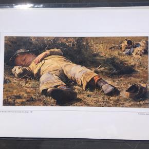 30x40cm plakat af et Skagens maleri  Forestiller en sovende dreng, Skagen af Johan Krouthén  Aldrig pakket ud  Se også mine andre annoncer for køleskabsmagnetter med Skagens maleri