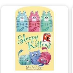 'Sleepy Kittens' med søde fingerdukker (kendt fra 'Despicable Me')