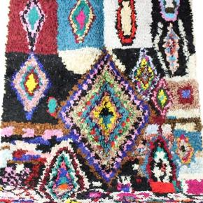 Unika boucherouite tæppe, håndlavet og nyt !  Måler 210x145 cm Salgspris 3700kr