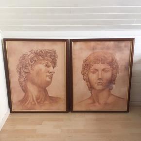 2 Plakater  David og Penthesileia Kunstner : Salomon Indrammet i rammer med glas . Rammemål : 76 x 97 cm Sælges pågrund af flytning Sidste foto viser rammen tæt på , der er ikke noget galt med billede.