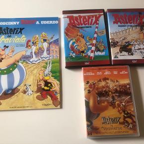 Asterix:  DVD:    Asterix og Briterne   Sejren over Cæsar   Asterix og vikingerne  Hæfte:   Asterix og Latraviata  Prisidé dkk 80,00 - kom gerne med et seriøst bud :-)