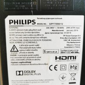 """Philips 32"""" LED Smart TV med tilhørende fjernbetjening. Super godt fjernsyn, sælges pga. flytning."""