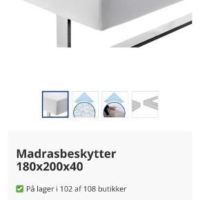 Kronborg Gold madrasbeskytter lagen på 180x200x40 beskytter madrassen mod sved og husstøvmider og bakterier. Kun vasket.  Køber betaler fragt